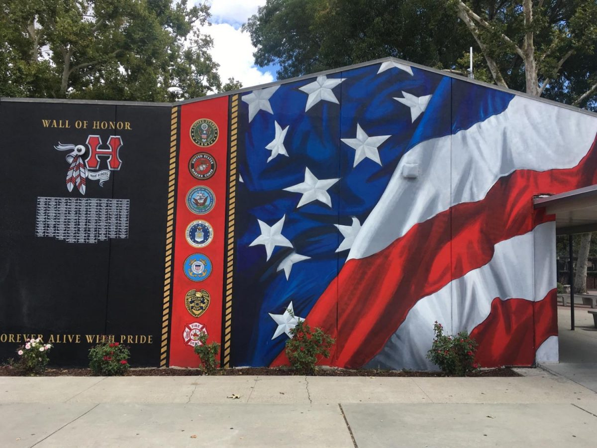 Hart celebrates the Wall of Honor at Back to School Night