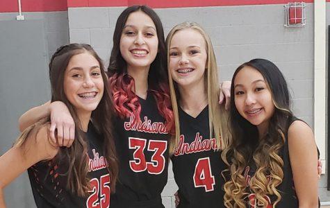 Varsity Girls' Basketball has four new freshmen added to this season's roster.