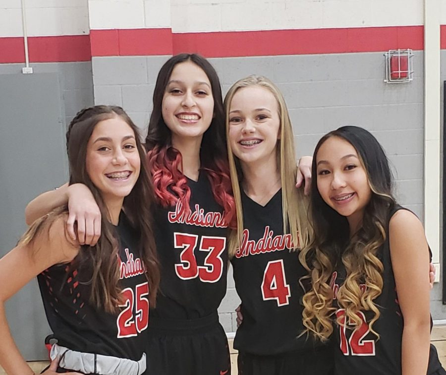 Varsity Girls' Basketball has four new freshmen added to this season's roster.