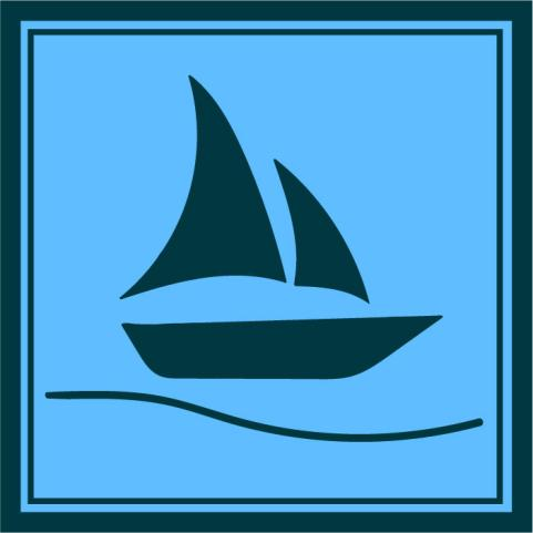 The Sailboat Project's logo is a metaphor for mental health. The different layers of the sail categorize the levels of counseling students may require. (published with permission from Zoe Titus)