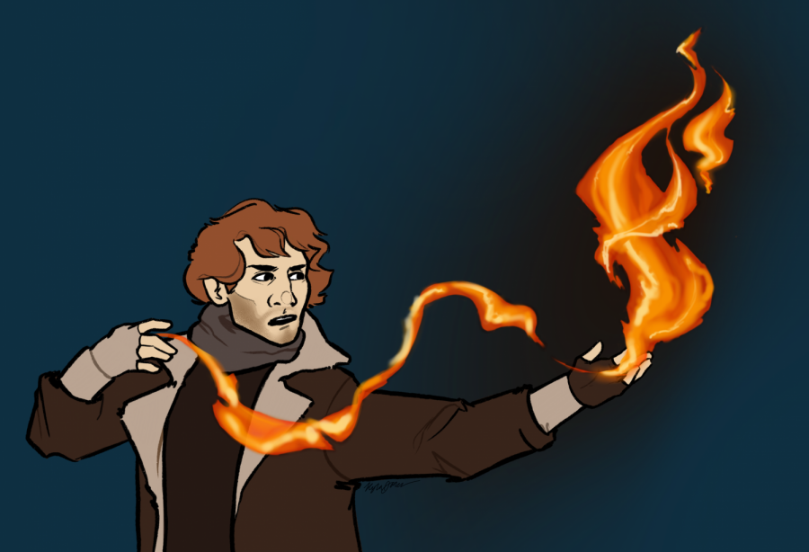 One of Critical Role's most popular characters is Caleb Widogast, a wizard played by American voice actor Liam O'Brien.  / Artwork by Kyla Jones