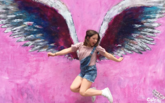 Saugus High honors Gracie Muehlberger and Dominic Blackwell with murals painted on campus buildings